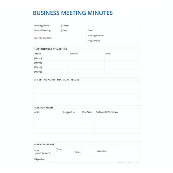 22 free download meeting minutes template for smart documentation